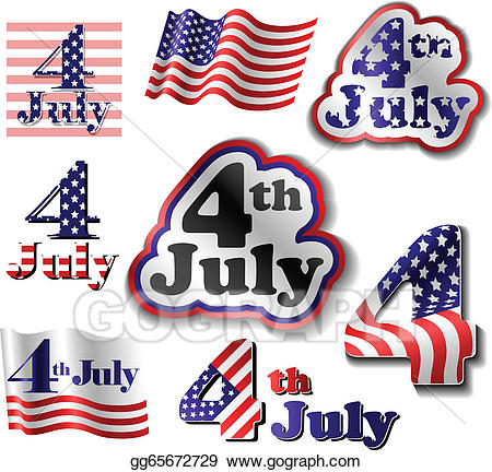 Vector stock july.