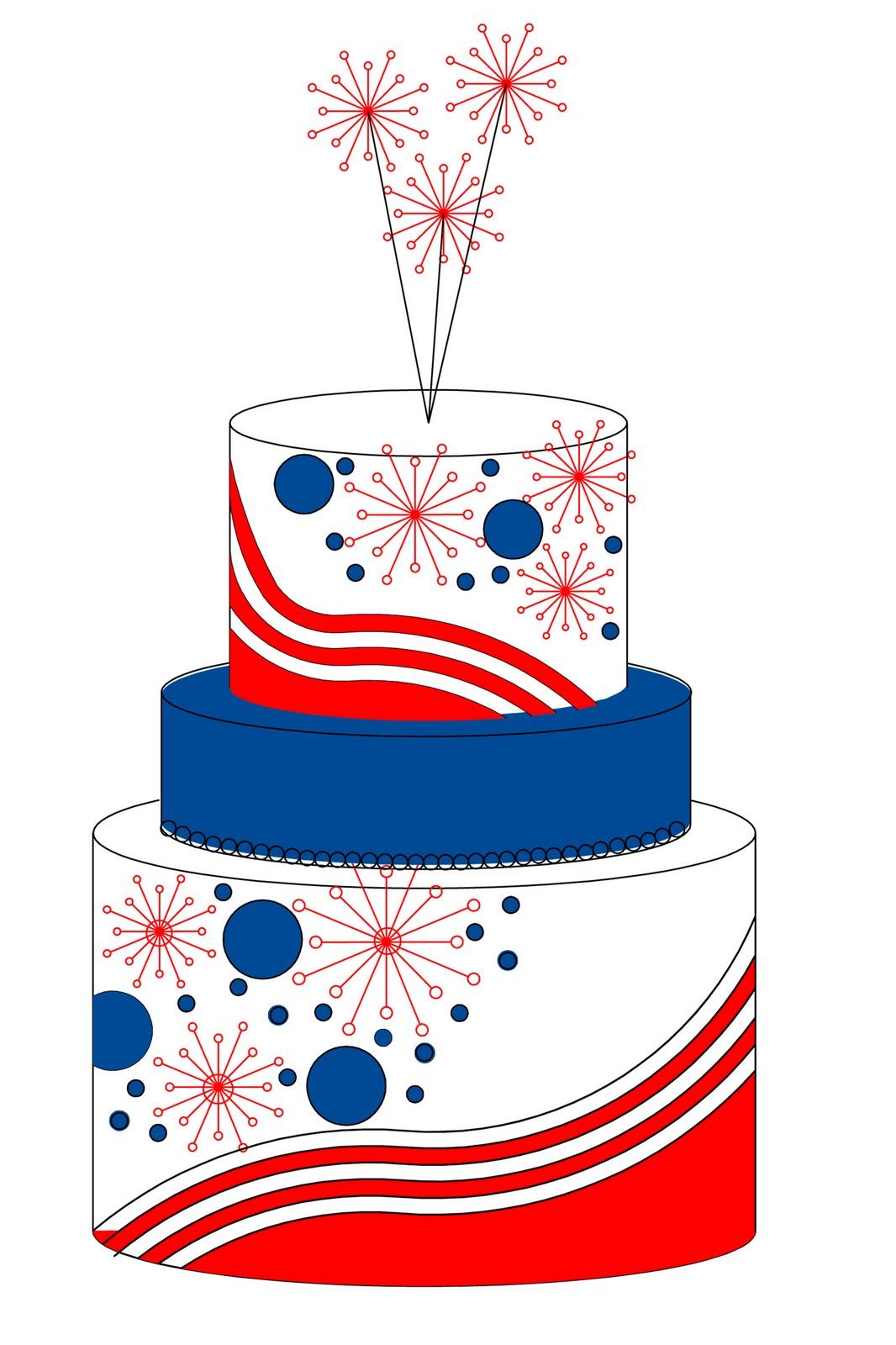 4th july cake.