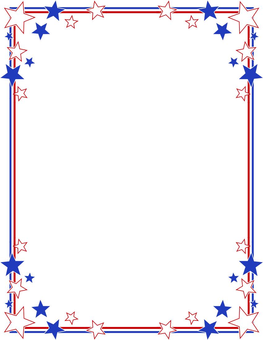 Fourth july border.