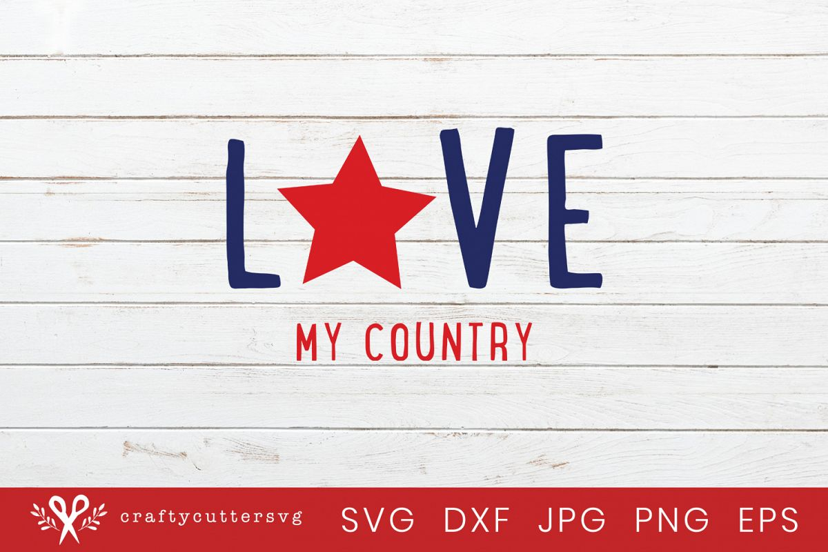 Love country svg.