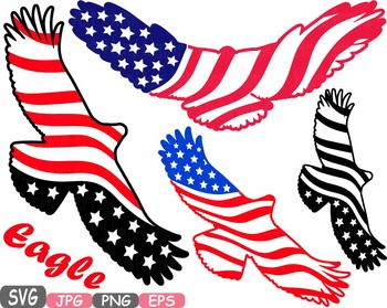 American flag eagle.