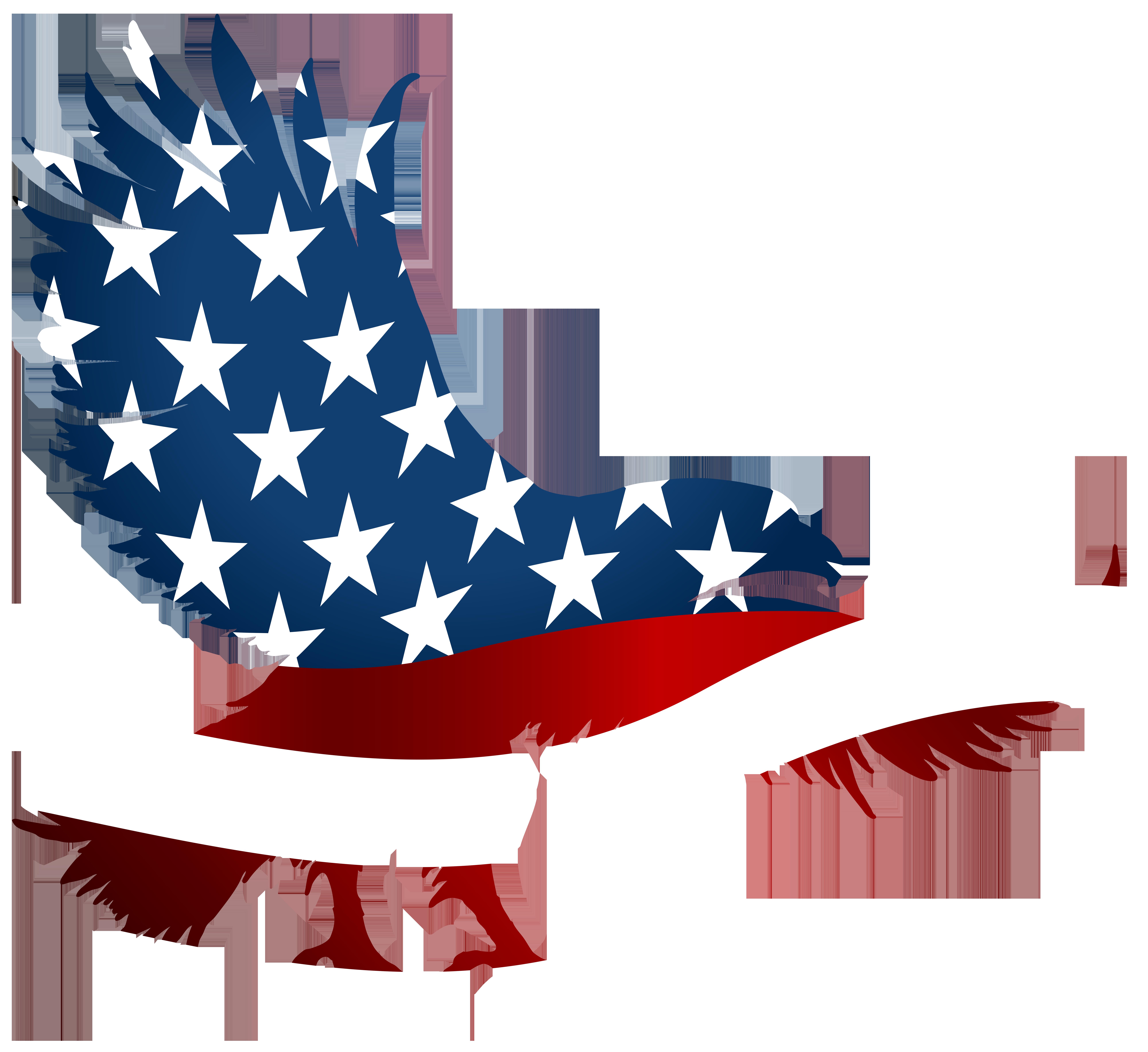 American eagle flag.