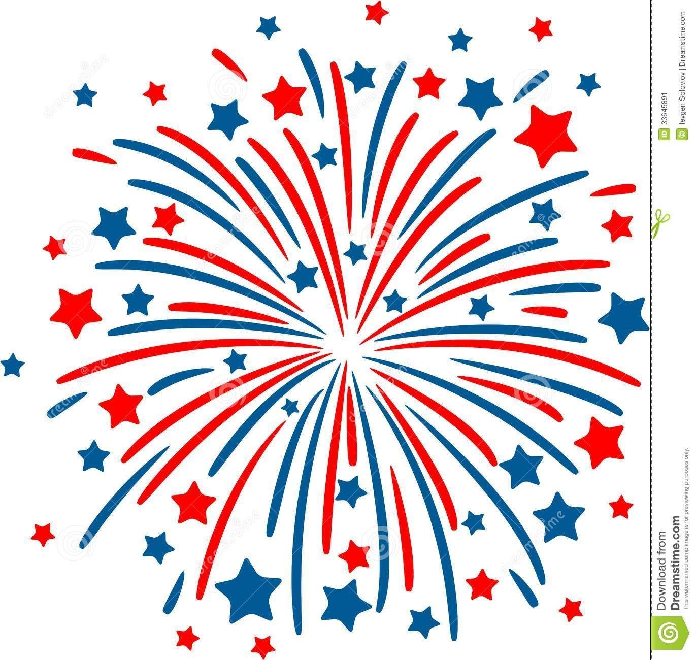 Fireworks clipart background.