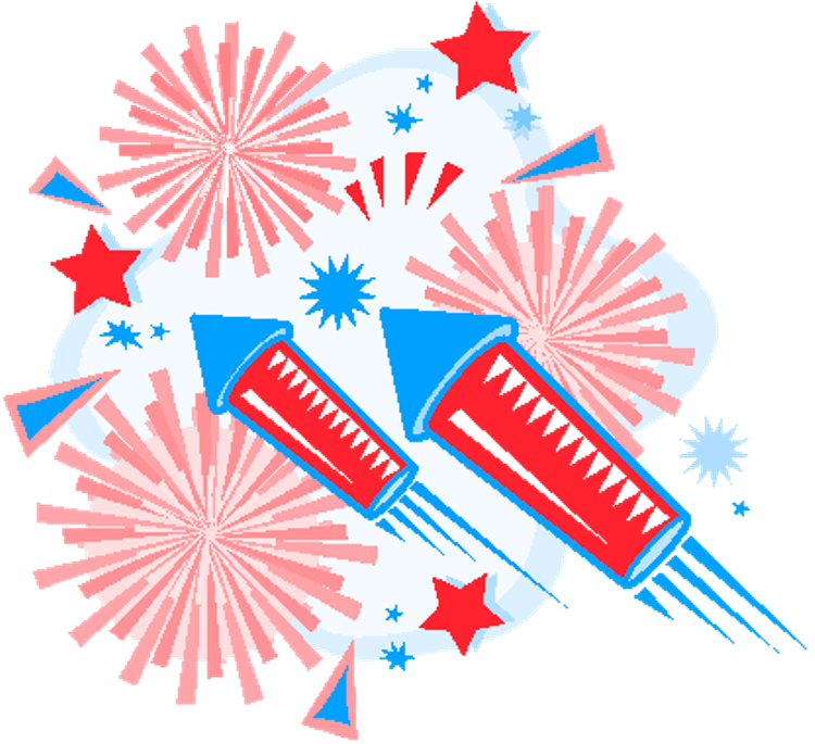 Clipart fireworks 4th.