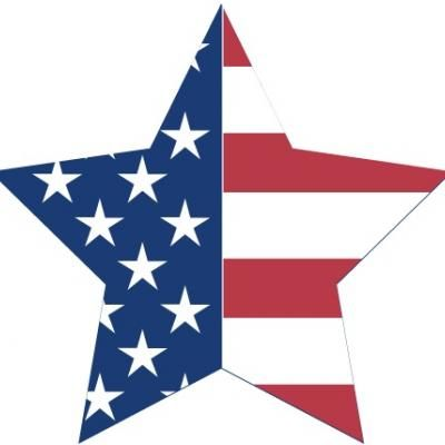 Patriotic star clipart.