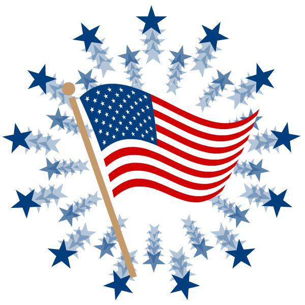 Patriotic stars clipart.