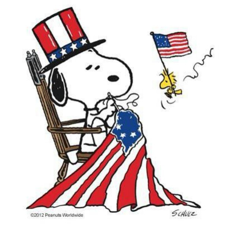 Snoopy 4th july.