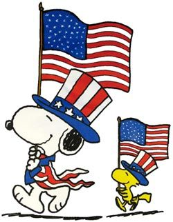 Happy 4th of july peanuts