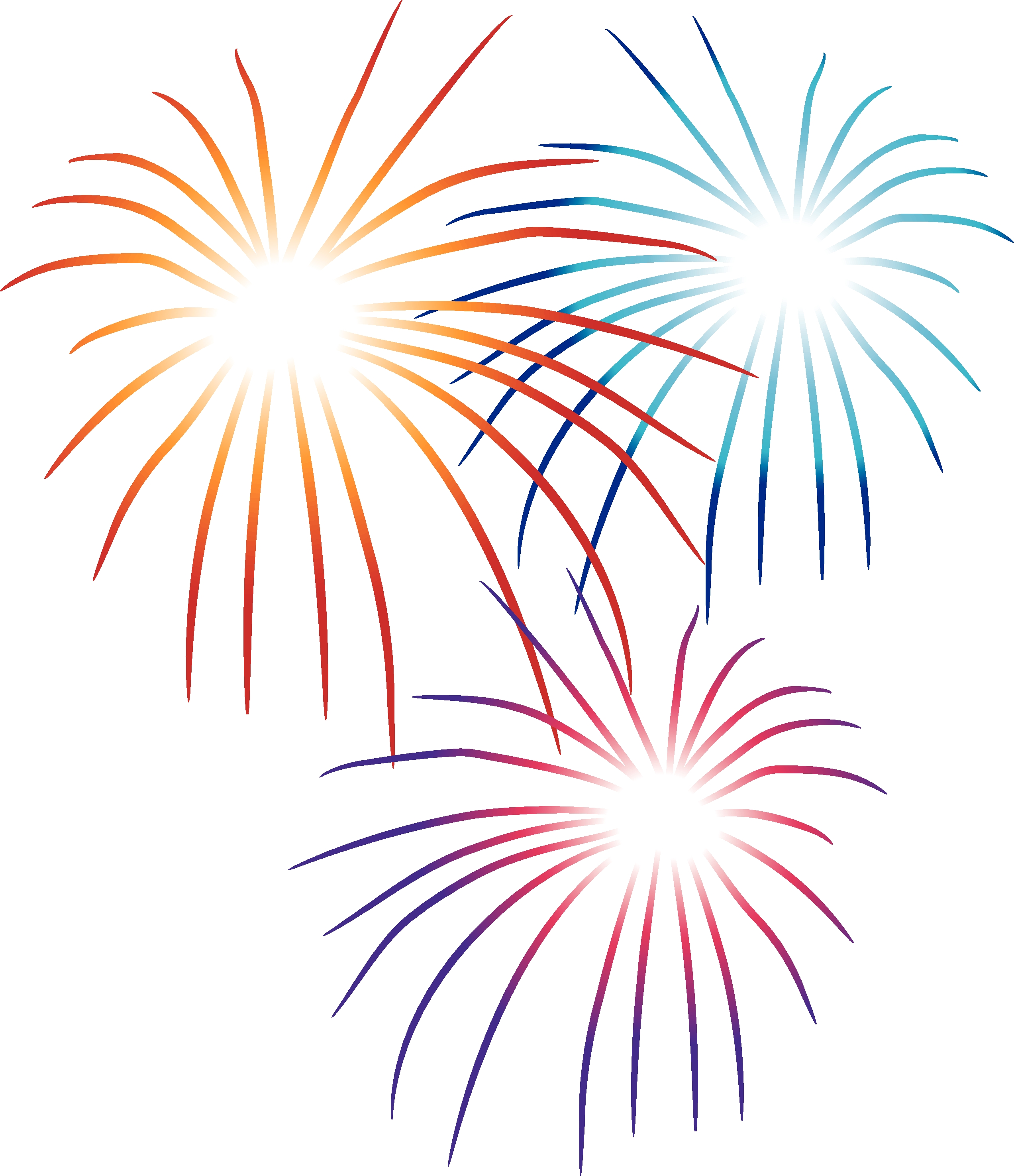 Collection firework clipart.