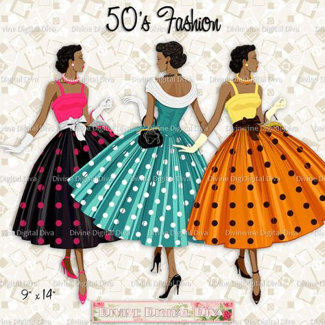 Ladies color 50s.