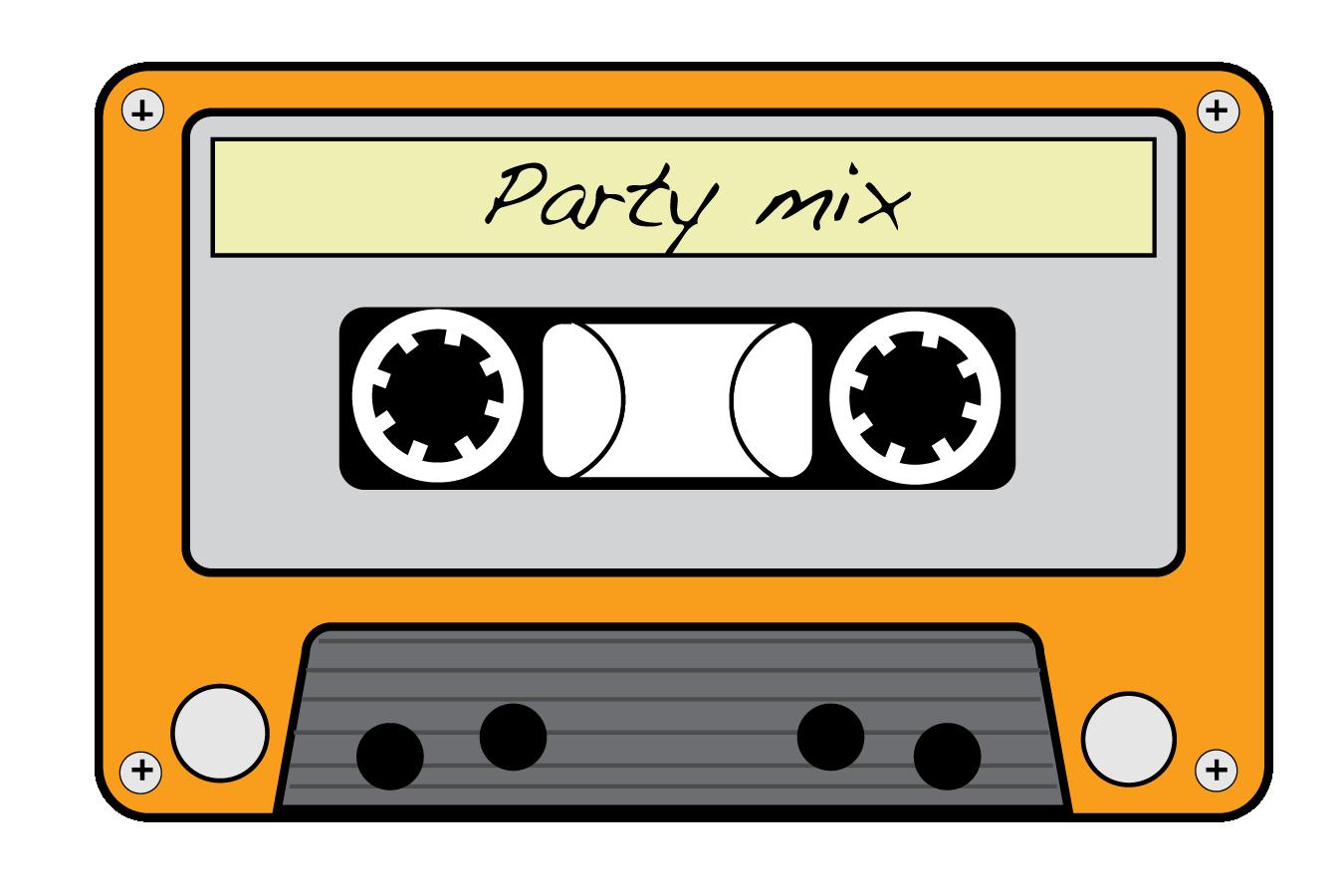 Neon 80s cassette.