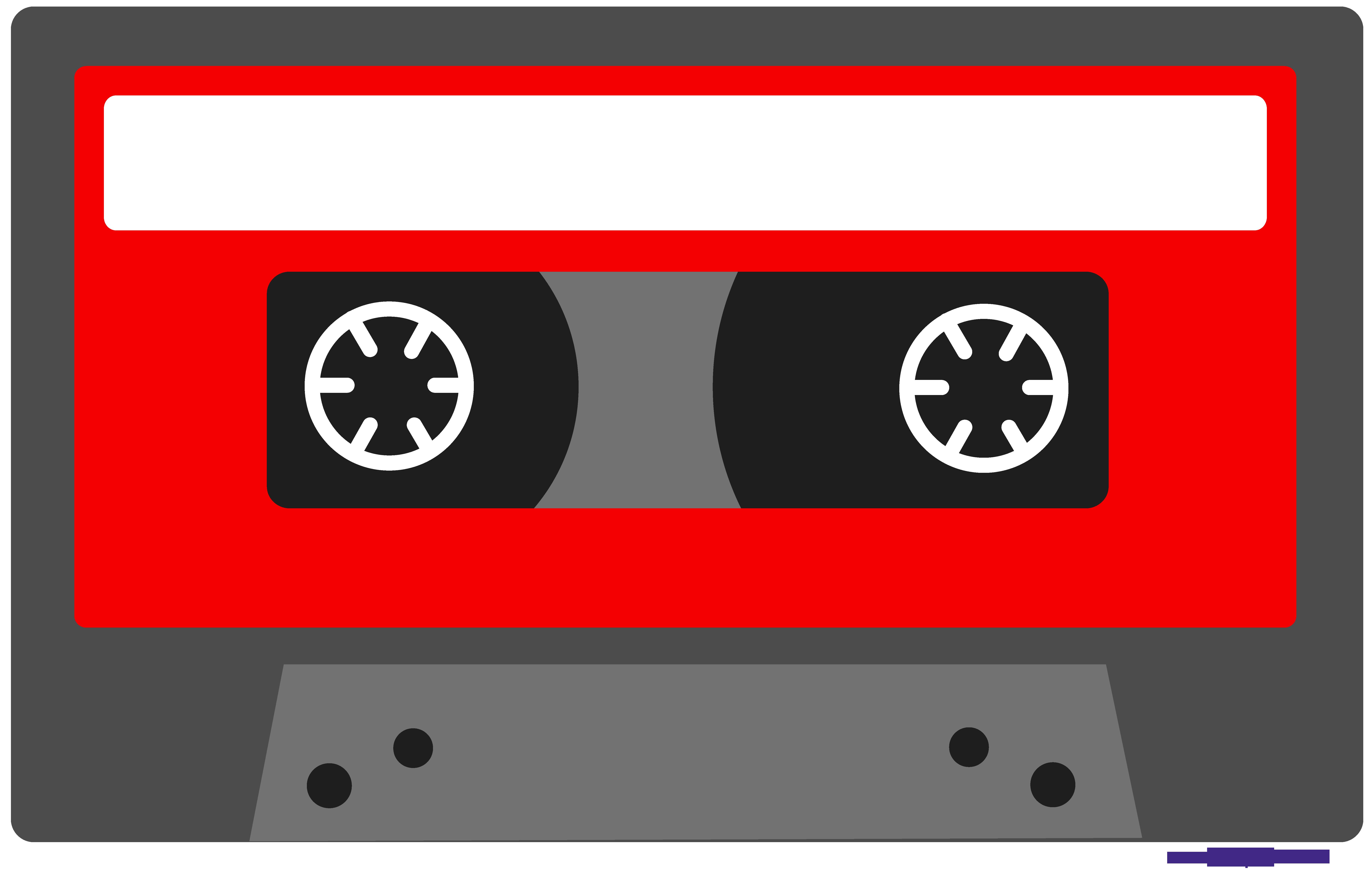 Red cassette tape.