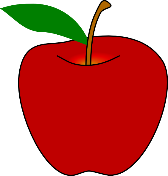 Clipart apple bowl.