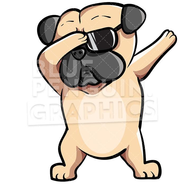Pug dog dabbing.