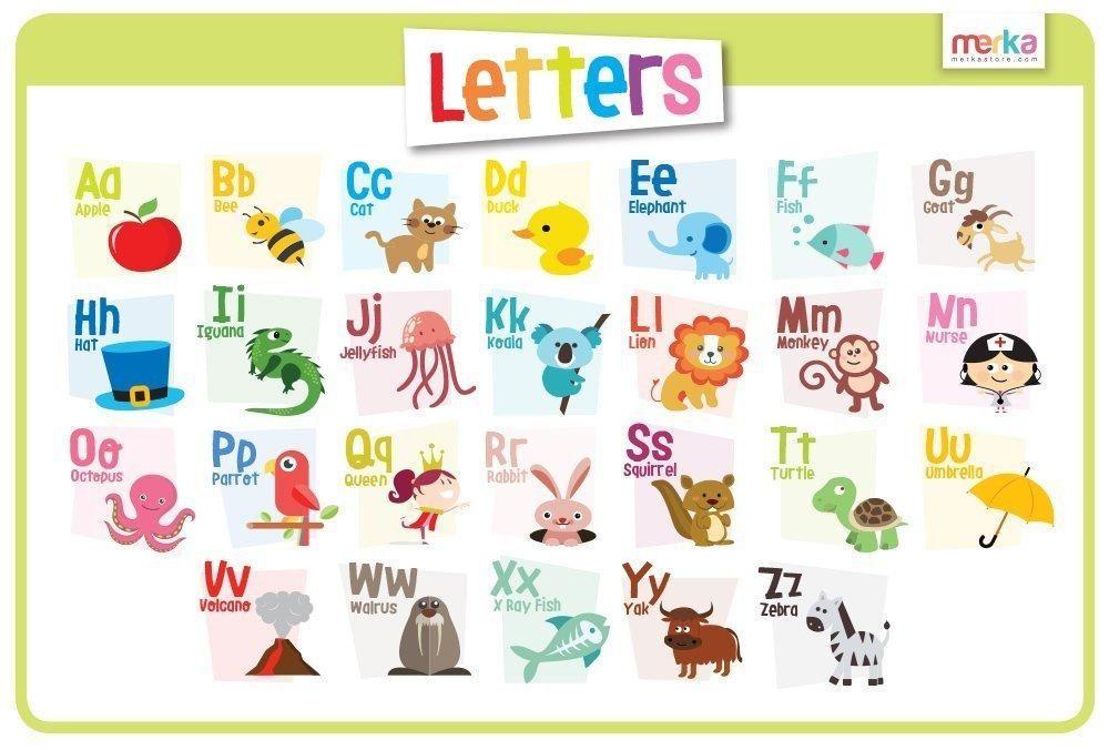 Letters educational kids.