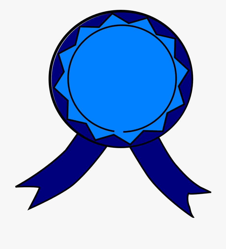 Medal blue ribbon.