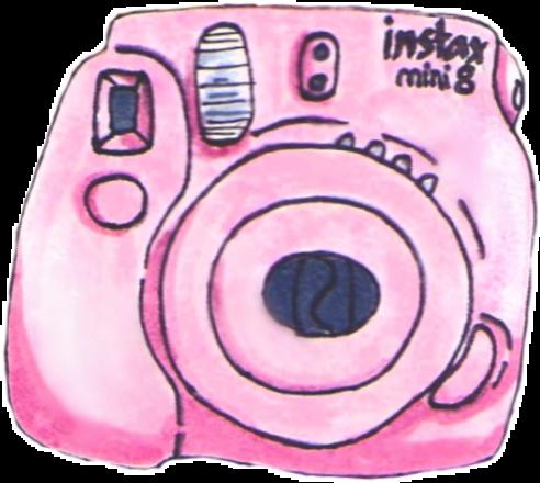 Polaroid camera pink.