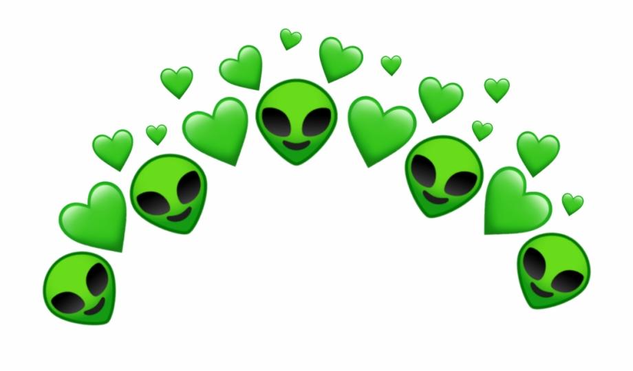 Alien green heart.