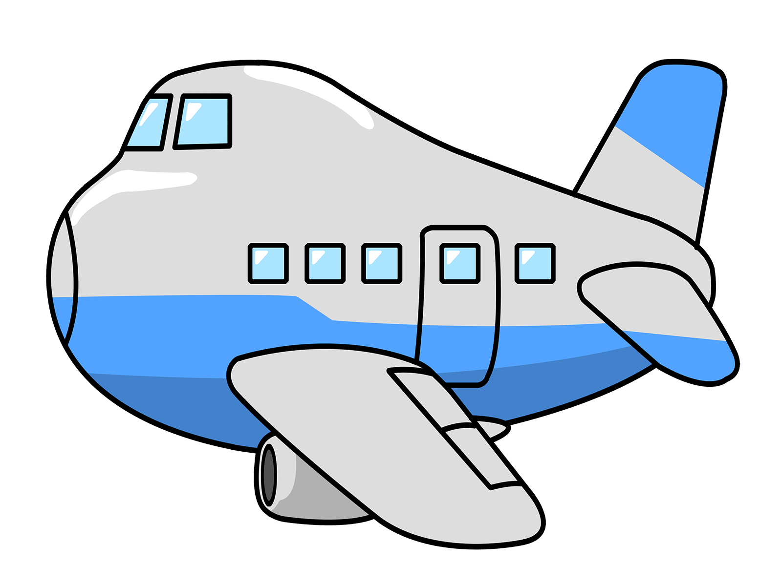 Free cartoon airplane.