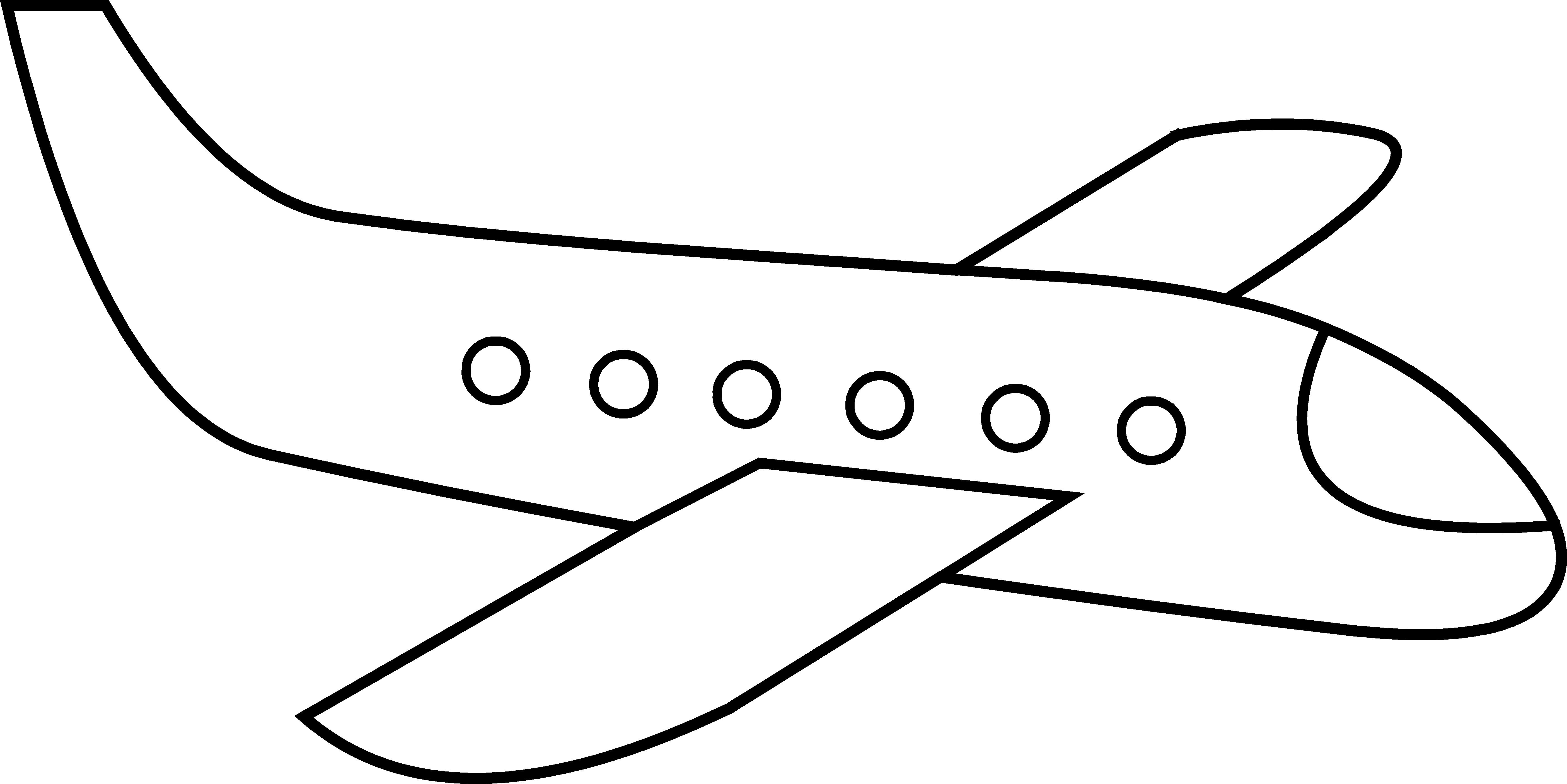 Clipart plane easy.
