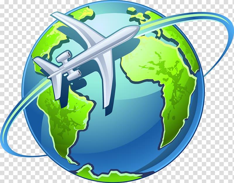 Airplane Globe World , world water day transparent