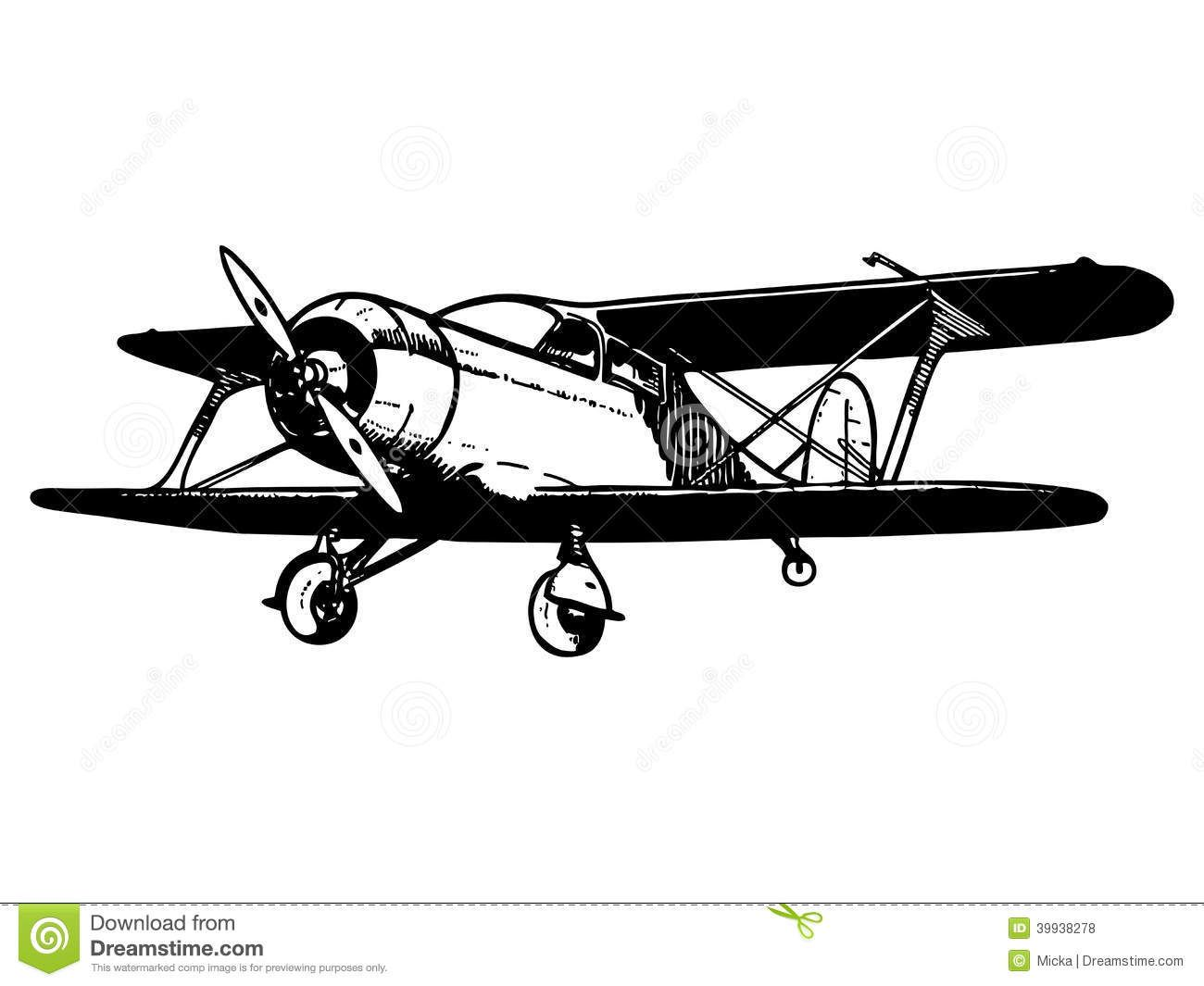 Biplane clipart old.