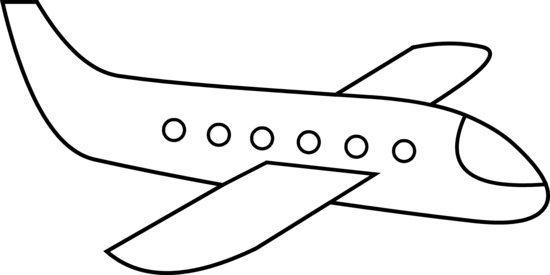 Free airplane outline.