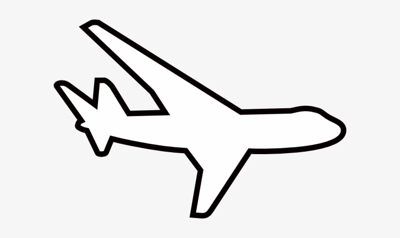 Airplane outline white.