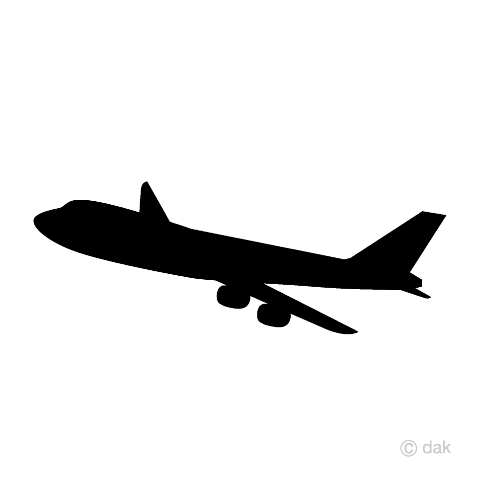 Free airplane silhouette.