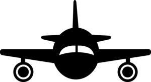 Plane silhouette clipart.