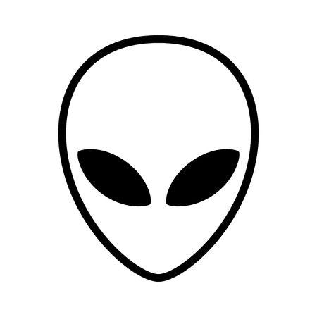 Alien head clipart.