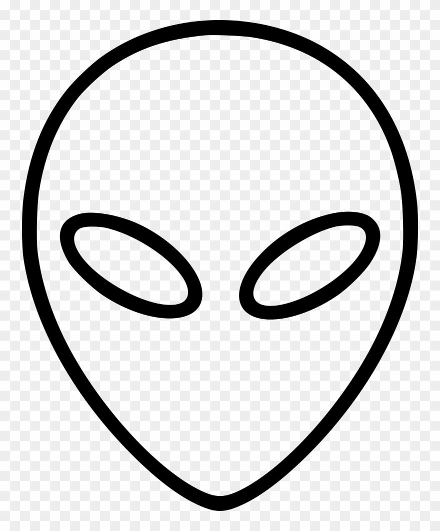 Alien svg head.