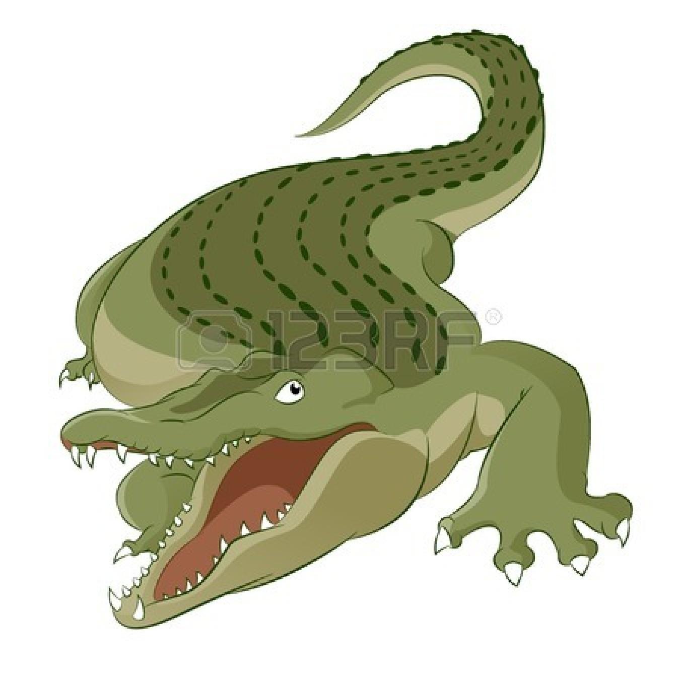 Scary crocodile clipart.