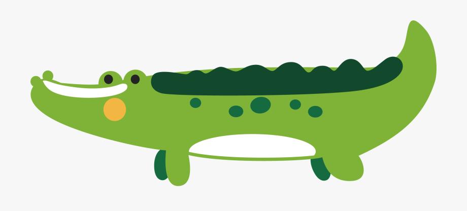 Vector alligator scary.