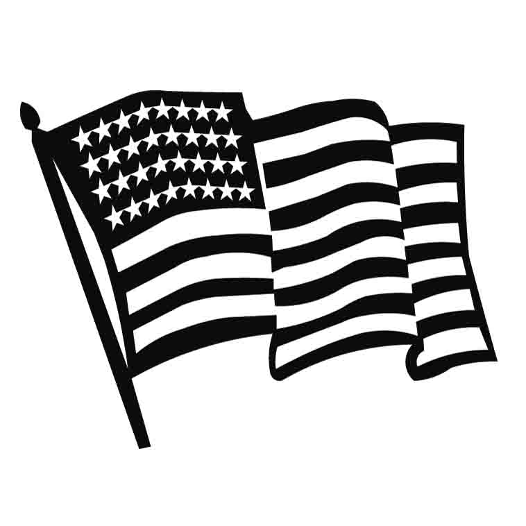 Free American Flag Clip Art Black And White, Download Free