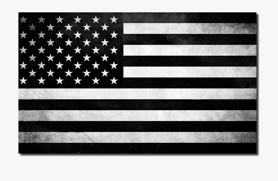 American flag black.