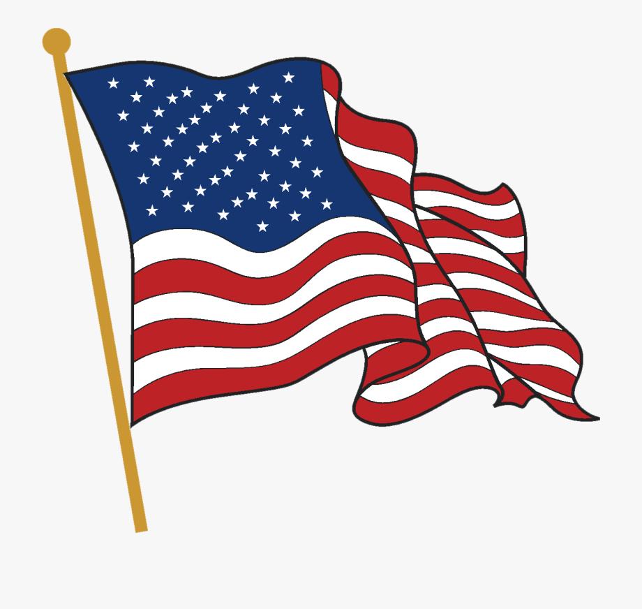 American flag wave.