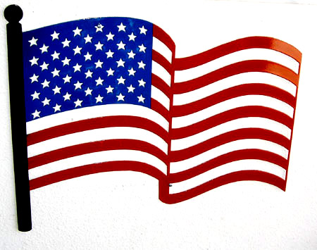 Cartoon american flag.