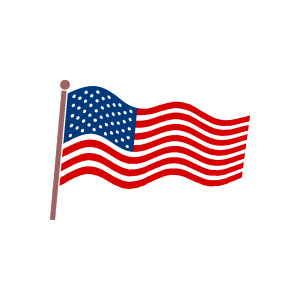 American flag clip.