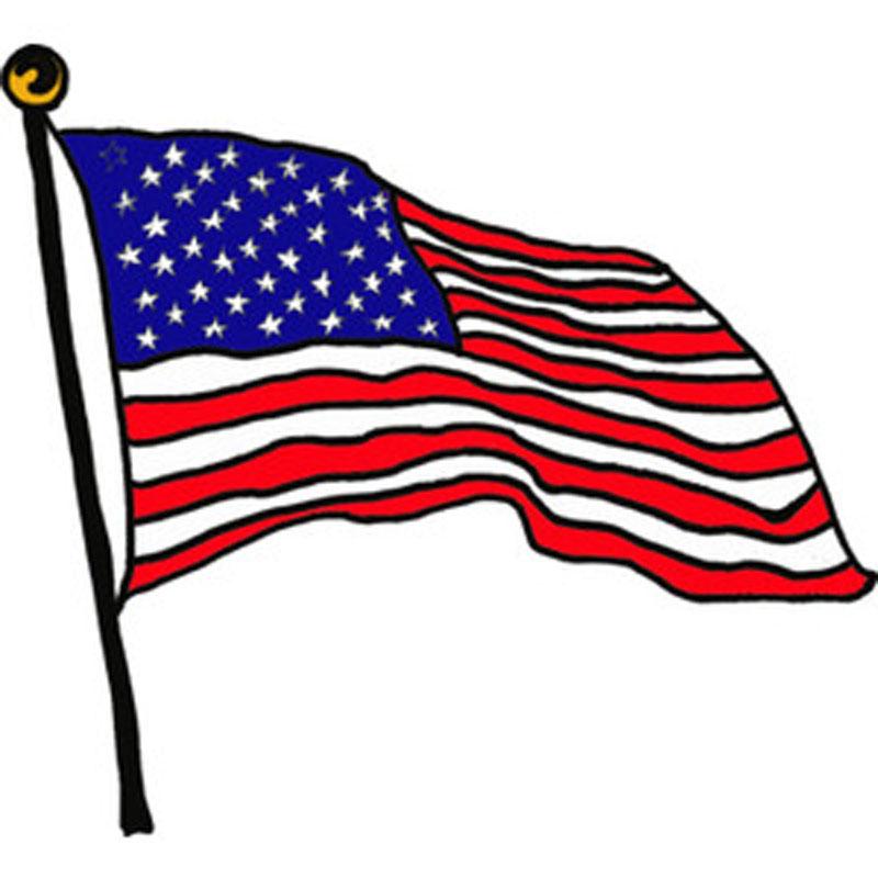 American flag cartoon.
