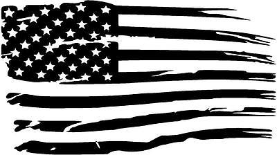 Distressed american flag.