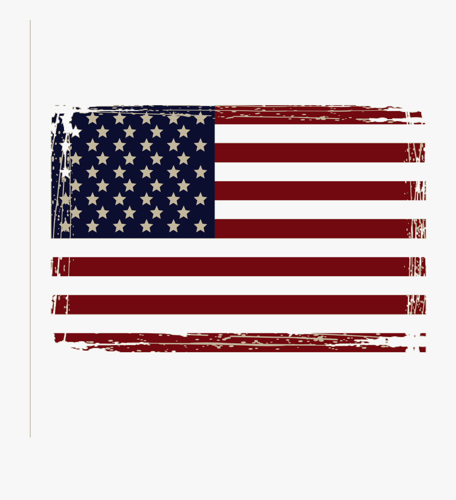 Distressed american flag.