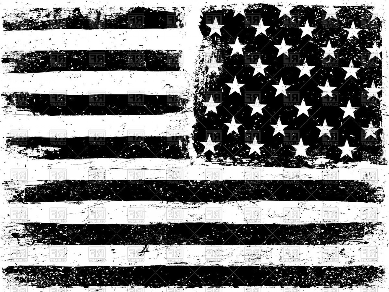 Grunge Style Usa Flag Vector Clipart