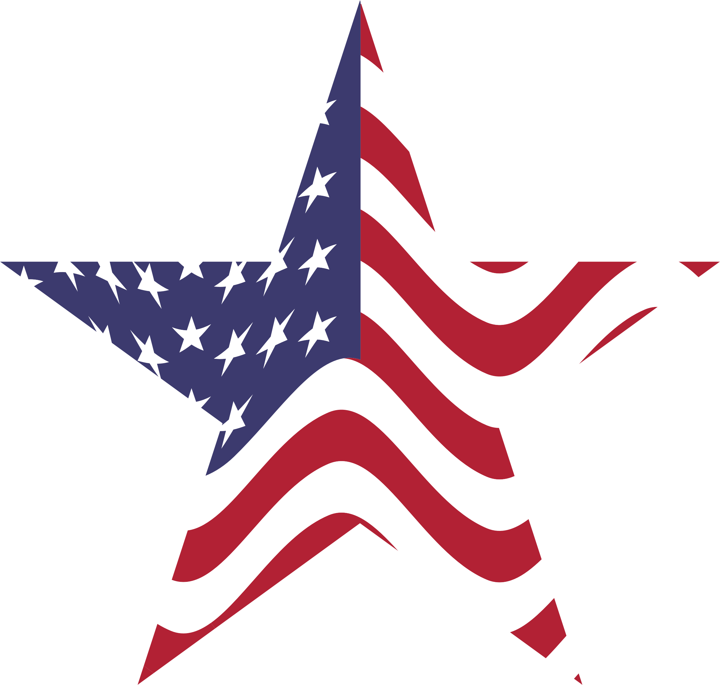 Clipart american flag.