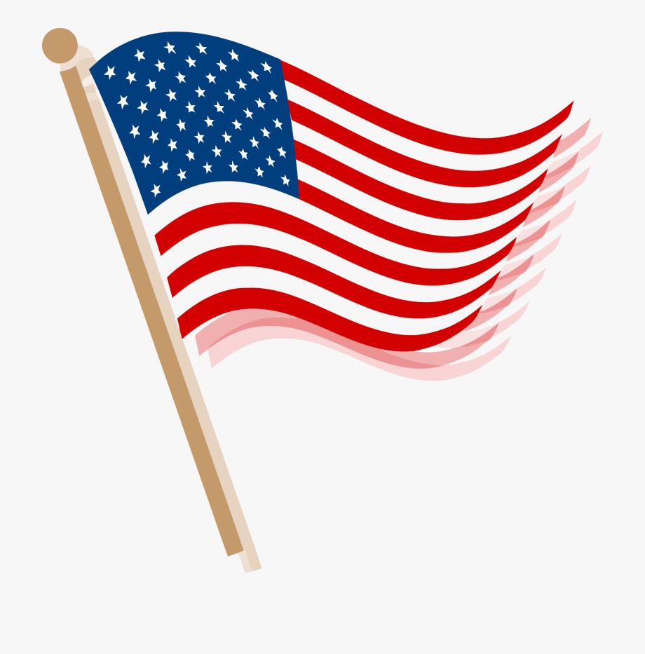 Usa flag clip.