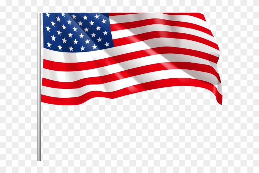 Drawn american flag.