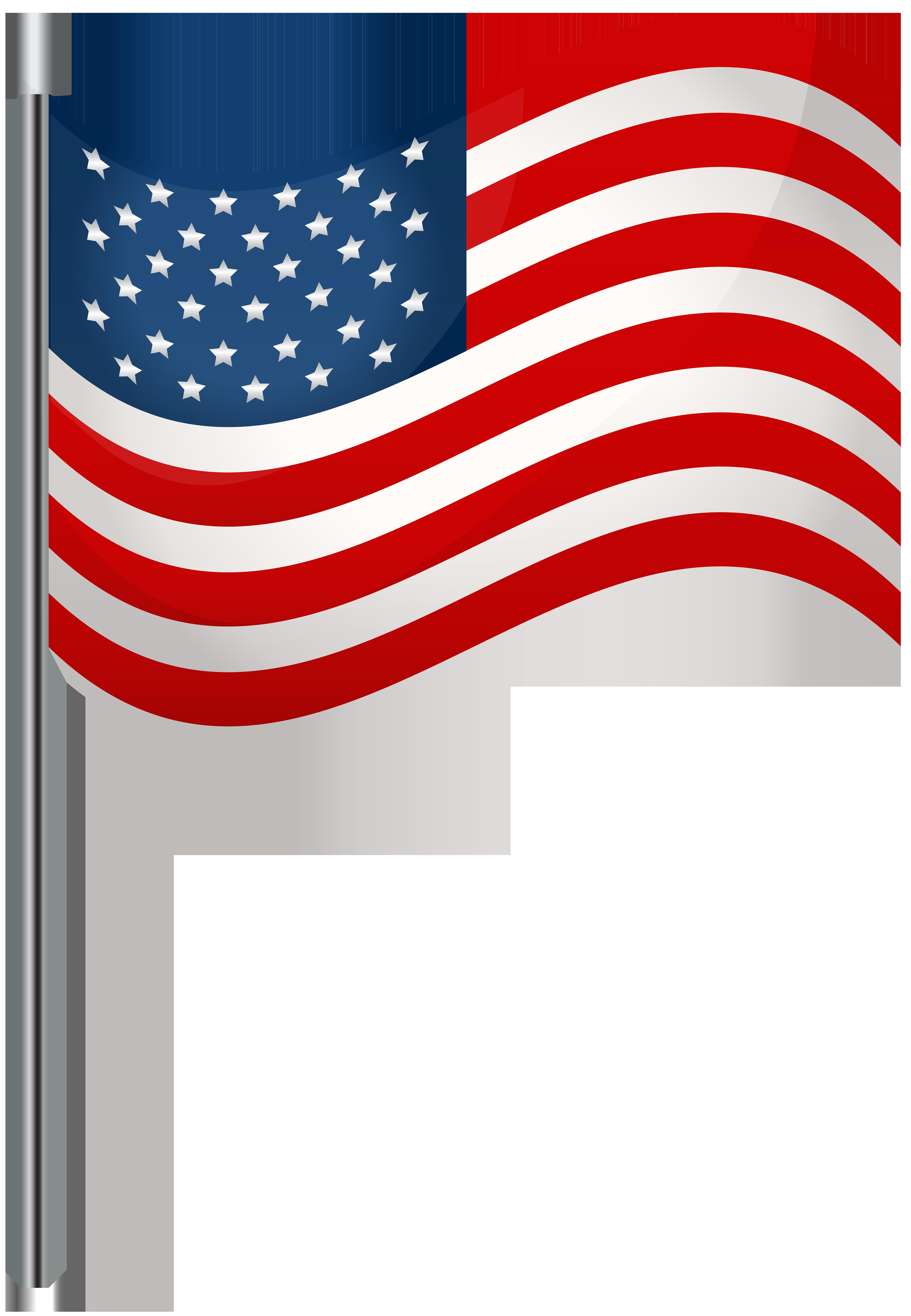 Usa waving flag.