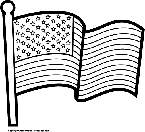 flag clipart drawing
