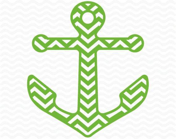 Chevron anchor clipart.
