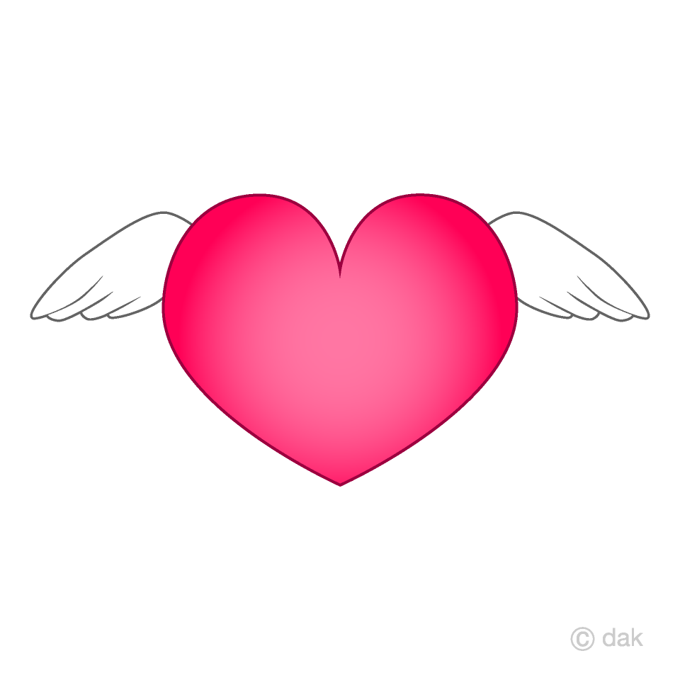 Angel Wings Heart Clipart Free Picture